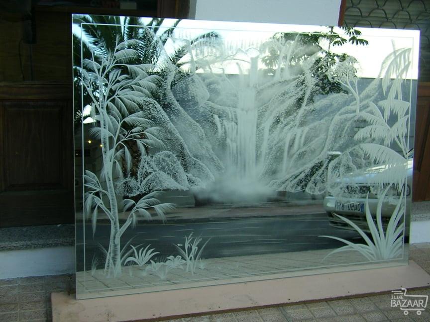 شیشه طرح دار سند بلاست